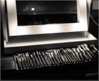 Tableau et miroir de maquillage Image stock