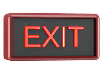 Tableau EXIT. Information panel EXIT on white background stock illustration
