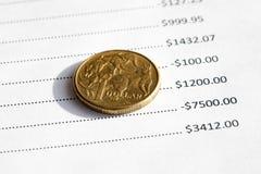 Tableau financier australien Photo stock