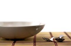 Tableau, fourchette et cuillère Photos stock