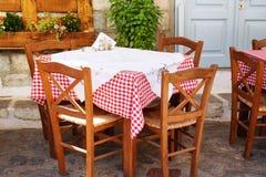 Tableau grec traditionnel de taverne Photo libre de droits