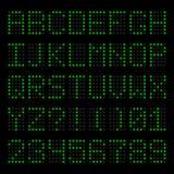 Tableau indicateur électronique Photographie stock libre de droits