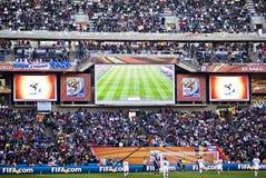 Tableau indicateur électronique - carte de travail 2010 de la FIFA Images stock