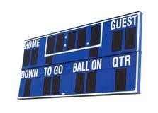 Tableau indicateur bleu du football image libre de droits