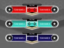 Tableau indicateur d'icônes de sport Photo libre de droits