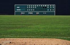Tableau indicateur de base-ball de vintage Photographie stock