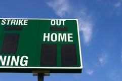 Tableau indicateur de base-ball (partiel) Image libre de droits