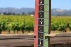 Tableau indicateur de bille de bocce de pays de vin - rayure attachée Photos libres de droits