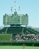 Tableau indicateur 2001 de Centerfield au champ de Wrigley Photo libre de droits