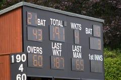 Tableau indicateur de cricket Photo libre de droits