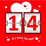 Tableau indicateur de date de Saint-Valentin Illustration Stock