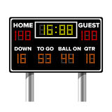 Tableau indicateur de football américain Résultat du jeu de sport Points de Digital LED Illustration de vecteur Photographie stock libre de droits