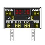 Tableau indicateur de football américain Résultat du jeu de sport Points de Digital LED Illustration de vecteur Temps, invité, ma Illustration Libre de Droits
