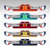 Tableau indicateur du football Photos libres de droits