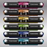 Tableau indicateur du football et du football Photographie stock
