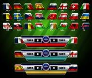 Tableau indicateur et drapeau de l'Europe Image libre de droits
