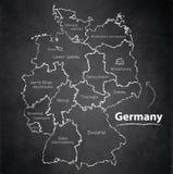 Tableau individuel distinct de tableau noir de carte de l'Allemagne Photographie stock