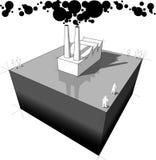 Tableau industriel de pollution Photos libres de droits