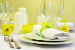 Tableau mis pour la réception ou le mariage Photographie stock libre de droits