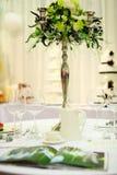 Tableau mis pour la réception ou le mariage Photo libre de droits