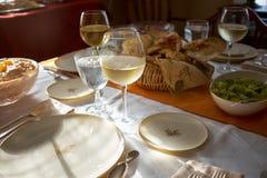 Tableau mis pour un dîner formel de thanksgiving Image stock