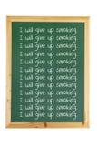 Tableau noir avec des messages Photo stock