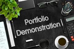 Tableau noir avec la démonstration de portfolio rendu 3d Photo stock