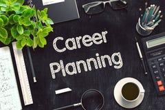 Tableau noir avec la planification des carrières rendu 3d Images stock
