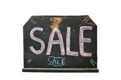 Tableau noir avec la vente de mot écrite là-dessus Photos libres de droits