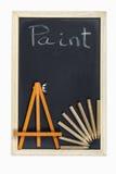 Tableau noir avec le cadre en bois Photo libre de droits