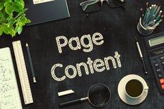 Tableau noir avec le contenu de page rendu 3d Image libre de droits