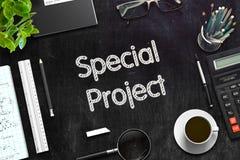 Tableau noir avec le projet spécial rendu 3d Photos stock