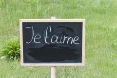 Tableau noir avec le texte en français Photo libre de droits
