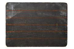 Tableau noir avec les pistes rouges Photographie stock