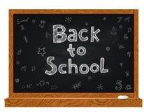 Tableau noir d'école avec des griffonnages Image stock