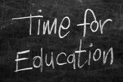 Tableau noir d'école avec le message Photo libre de droits