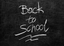 Tableau noir d'école avec le message Images stock