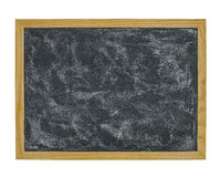 Tableau noir d'école d'isolement sur le fond blanc Photos stock