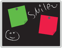 Tableau noir d'aimant de message de maison et de bureau Photographie stock libre de droits