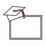 Tableau noir d'isolement d'école Photos stock