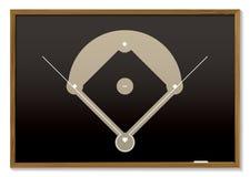 Tableau noir de base-ball Photographie stock