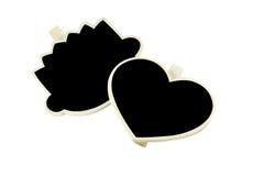 Tableau noir de coeur et de tête Photographie stock libre de droits