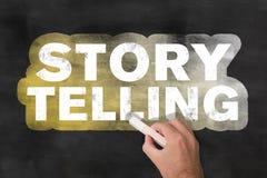 Tableau noir de dire d'histoire Photos libres de droits