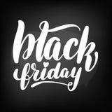 Tableau noir de tableau marquant avec des lettres vendredi noir illustration libre de droits