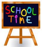 Tableau noir de message de temps d'école Photographie stock libre de droits