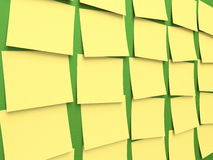 Tableau noir de post-it Images libres de droits