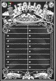 Tableau noir de vintage pour le menu italien Image libre de droits