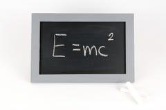 Tableau noir EMC avec la craie Photo libre de droits