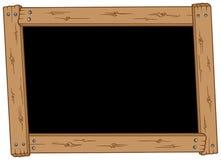 Tableau noir en bois Photographie stock