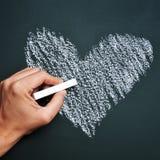 Tableau noir en forme de coeur Photographie stock libre de droits